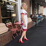 Платье белое нарядное хлопок купон сукня  жіноча біла   Пл 022 Dress white cotton, фото 4