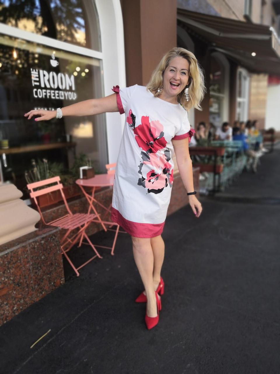 Платье белое нарядное хлопок купон сукня  жіноча біла   Пл 022 Dress white cotton