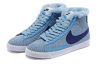 Зимние женские ботинки Nike (Найк) WMNS BLAZER MID Suede (blaz_wmns_04)