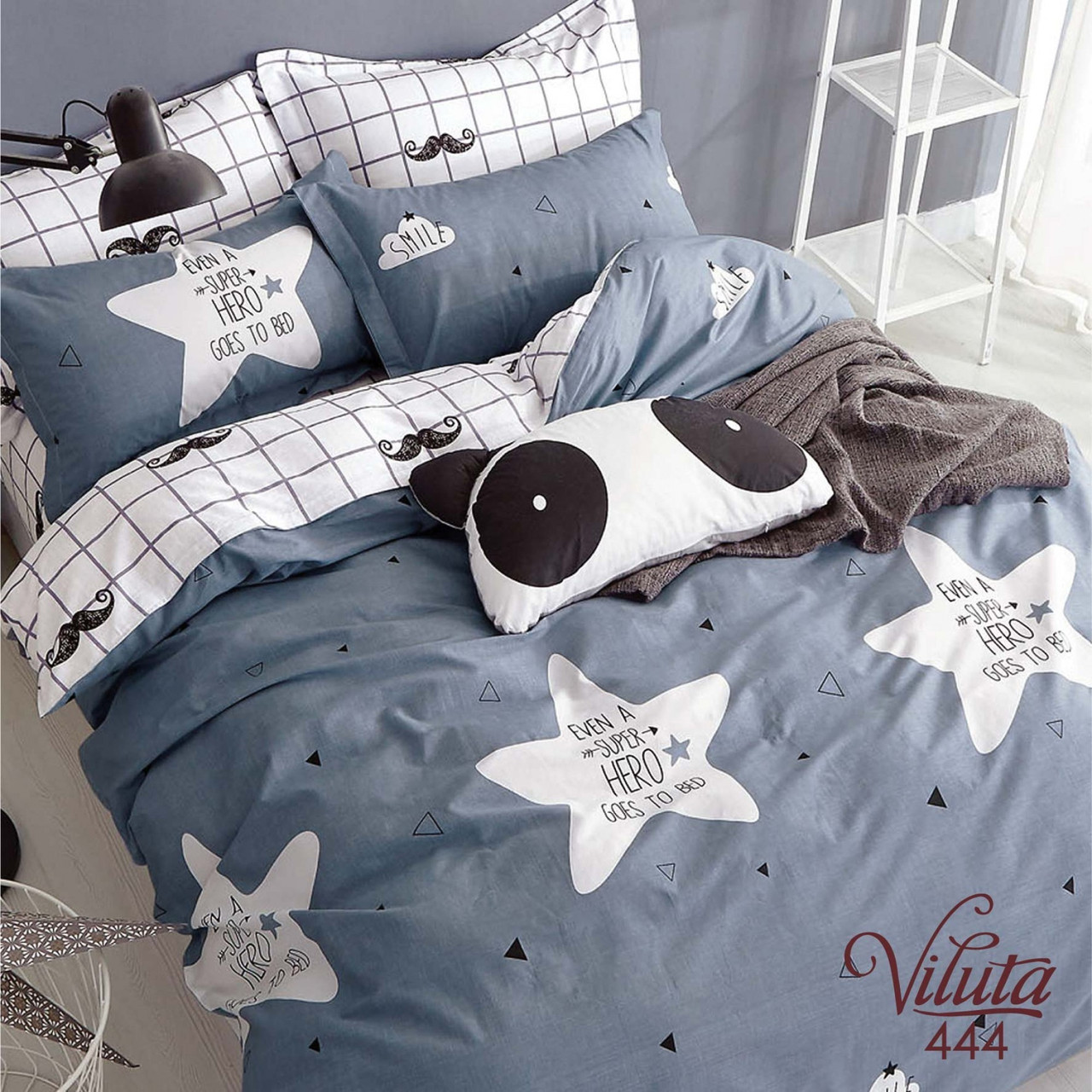 Подростковое постельное белье Сатин Твил 444 Полуторный