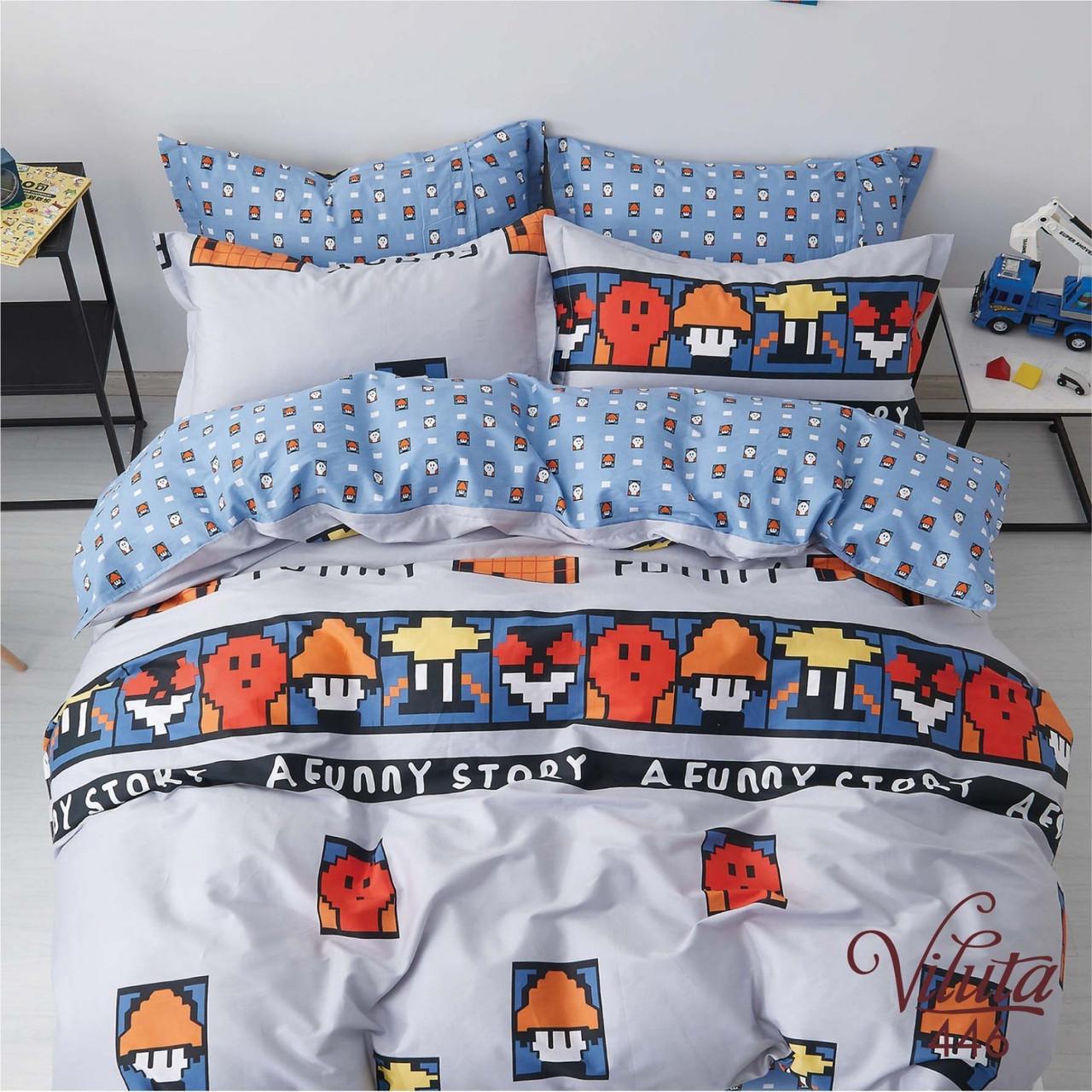 Подростковое постельное белье Сатин Твил 446 Полуторный