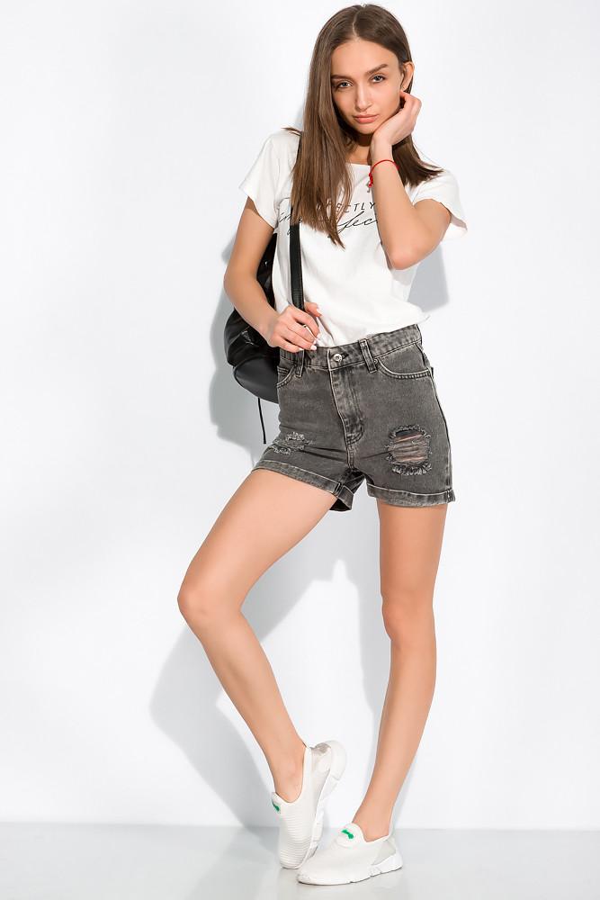 Женские джинсовые шорты 148P122-5 (Серый варенка)