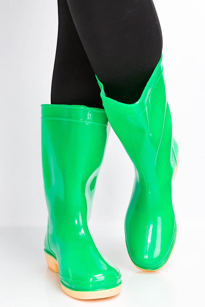 Сапоги женские 160P32 (Зеленый)