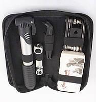 Сумка с набором инструментов с креплением на раму велосипеда,велоинструмент(насос, мультитул,латки,бортировки), фото 1