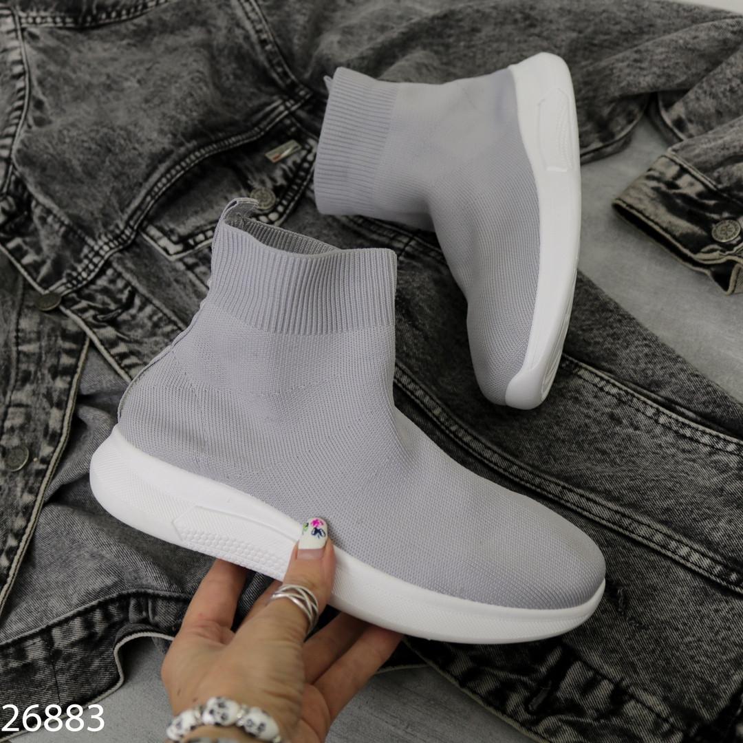 Высокие текстильные кроссовки