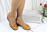 Светлые женские туфли на танкетке Koraka 112-T, фото 3