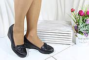 Черные женские туфли на танкетке Koraka 160-S, фото 2