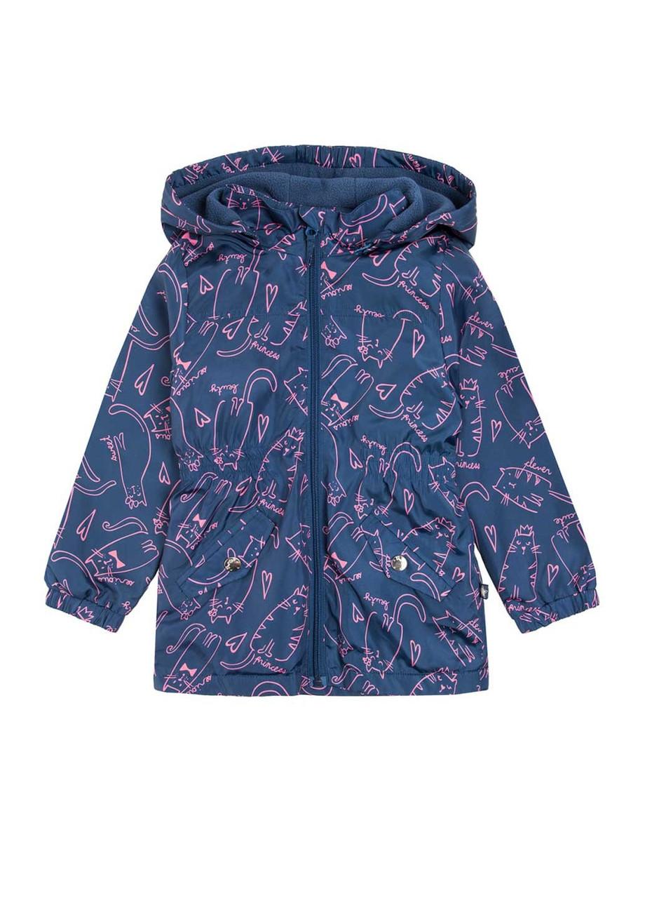 Куртка для девочки демисезонная синяя