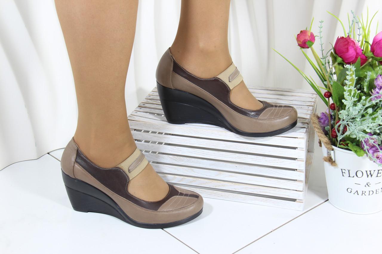 Жіночі турецькі туфлі на танкетці Norka 301-16-2