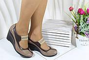 Жіночі турецькі туфлі на танкетці Norka 301-16-2, фото 2