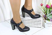 Стильные кожаные туфли на каблуке Norka 320-98, фото 2