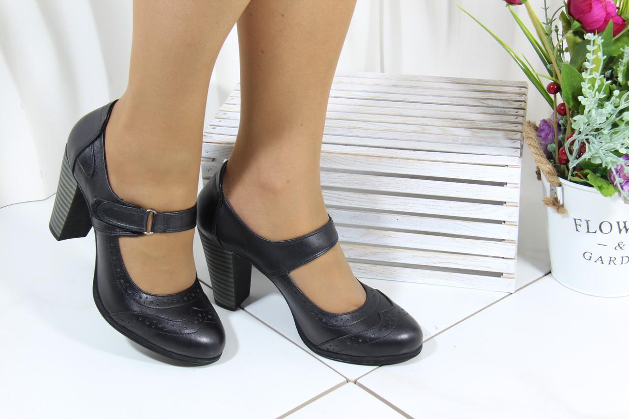 Стильные кожаные туфли на каблуке Norka 320-98