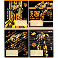 Тетрадь в линию 12 л Kite А5 Transformers микс 4 обложки (tf19-234)