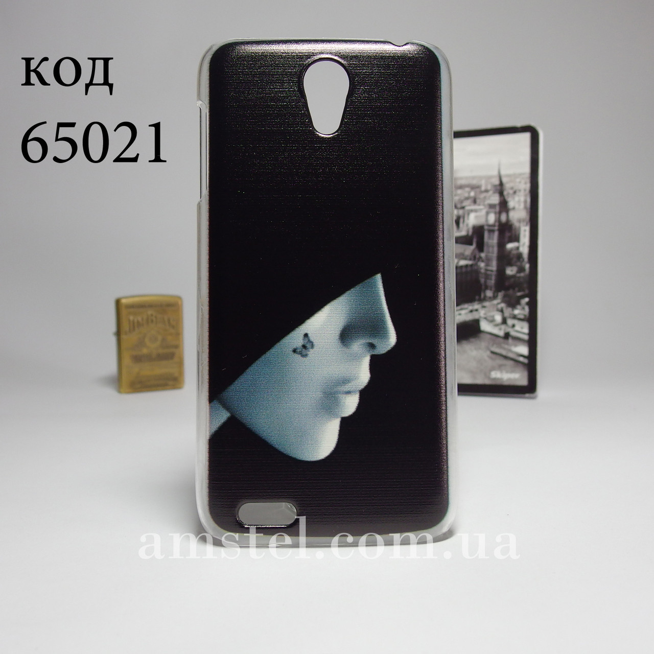Чехол для lenovo s650 панель накладка с рисунком девушка в капюшоне