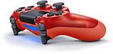 Беспроводной геймпад Wireless джойстик для PS4 Bluetooth chrystal red, фото 2