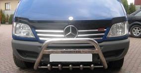 Накладки на решетку широкие (2002-2006, 6 частей, нерж) Mercedes Sprinter 1995-2006 гг.