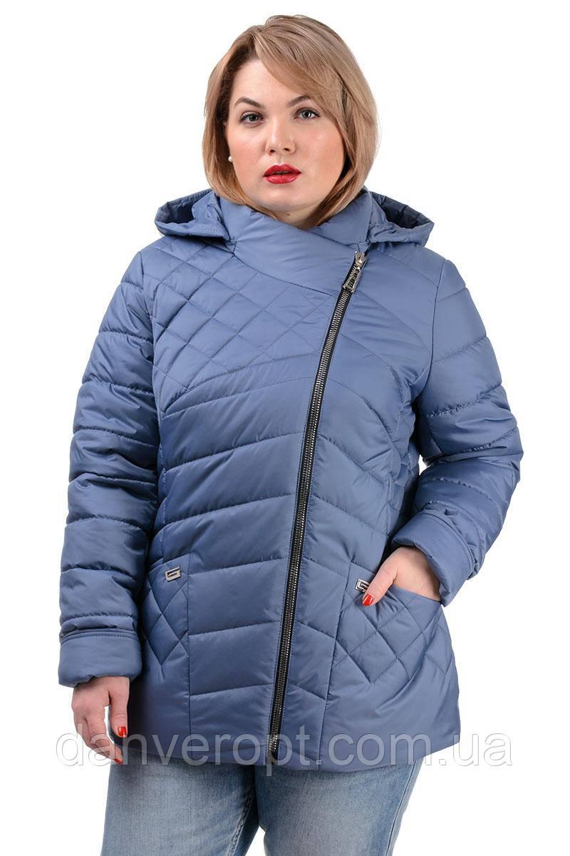 Куртка женская стильная модная размер 50-56 купить оптом со склада 7км Одесса