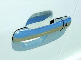 Накладки на ручки (4 шт, нерж) OmsaLine - Итальянская нержавейка Mercedes Sprinter 1995-2006 гг.