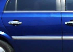 Opel Vectra C 2002↗ рр. Накладки на ручки (4 шт., нерж) OmsaLine - Італійська нержавійка