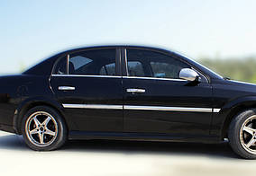 Opel Vectra C 2002↗ рр. Зовнішня окантовка вікон (4 шт, нерж) OmsaLine - Італійська нержавійка