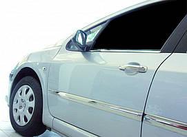 Peugeot 308 2007-2013 рр. Молдинг дверний (4 шт, нерж)