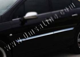Peugeot 407 Молдинг дверной (4 шт, нерж)