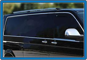 Повна окантовка вікон (14 шт, нерж) 1 бічні двері,Коротка Volkswagen T5 Caravelle 2004-2010 рр.