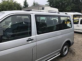 Рейлінги Хром Коротка база, Пластикові ніжки Volkswagen T5 Caravelle 2004-2010 рр.