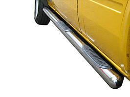 Боковые трубы (2 шт., нерж.) Средняя база, d70 Mercedes Sprinter 1995-2006 гг.