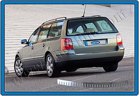 Накладки на задний бампер SW (Omsa, нерж.) 2000-2006, Матовая Volkswagen Passat B5 1997-2005 гг.