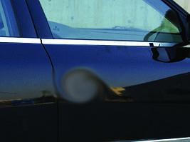 Наружняя окантовка стекол (4 шт, нерж) OmsaLine - Volkswagen Passat B5 1997-2005 гг.