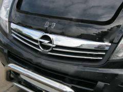 Opel Vivaro 2001-2015 рр. Накладки на решітку з 2007-2013 (4 шт, нерж)