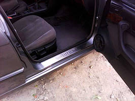 BMW 5 серія E-34 1988-1995 рр. Накладки на пороги (4 шт, Carmos)