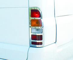 Ford Transit 2000-2014 гг. Накладки на стопы (2 шт, нерж) Carmos - Турецкая сталь