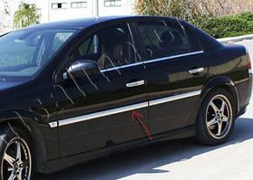 Opel Vectra C 2002↗ рр. Накладки на молдинги дверей (4 шт, нерж) OmsaLine - Італійська нержавійка