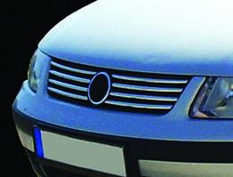 Накладки на решетку (нерж) 2001-2005 год, Carmos - Турецкая сталь Volkswagen Passat B5 1997-2005 гг.
