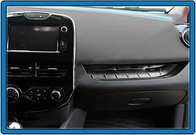 Накладка на переднюю консоль (нерж.) Renault Clio IV 2012-2019 гг.