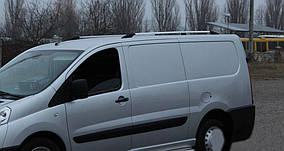 Fiat Scudo 2007-2015 рр. Рейлінги Хром Коротка база, Пластикові ніжки