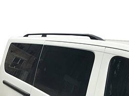 Fiat Scudo 2007-2015 рр. Рейлінги, Чорний колір Коротка база, Пластикові ніжки