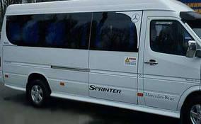 Боковые пороги (стекловолокно, под покраску) Mercedes Sprinter 1995-2006 гг.