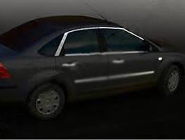 Ford Focus II 2005-2008 гг. Верхняя окантовка стекла HB (6 шт, нерж.)