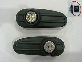 Ford Transit 2000-2014 гг. Противотуманки (LED-диоды, модель 2000-2006)