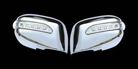 Nissan Tiida 2004-2011 рр. Накладки на дзеркала LED (2 шт., пласт)