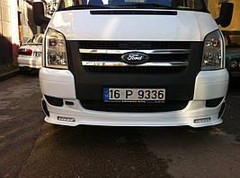 Ford Transit 2000-2014 гг. Накладка на передний бампер (DRL)