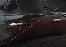 Lexus RX 2003-2009 рр. Накладки на ручки (4 шт., нерж.)