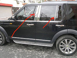 Land Rover Discovery III Молдинг дверных стоек (6 шт, нерж.)