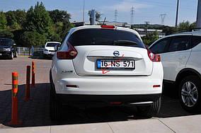 Nissan Juke 2010↗ рр. Кромка багажника (нерж.)