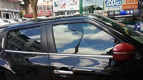 Nissan Juke 2010↗ рр. Окантовка вікон (4 шт, нерж) OmsaLine - Італійська нержавійка