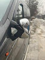 Opel Vivaro 2001-2015 рр. Накладки на дзеркала (2 шт) Хромований пластик