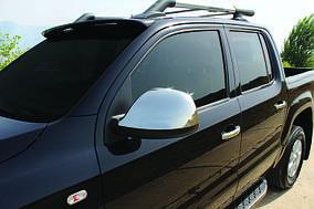 Накладки на зеркала (2 шт) OmsaLine - Итальянская нержавейка Volkswagen Amarok